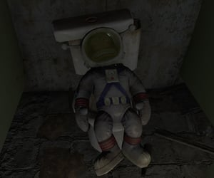 bathroom, fallout, and stuffed animal image