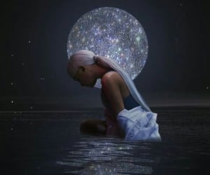 diamonds, glitter, and sea image