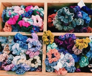 fashion, style, and scrunchies image