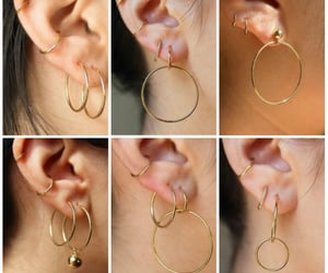 ear, girls, and piercing image