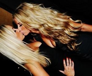 blonde, girl, and friends image