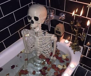 bath, bathtub, and candles image