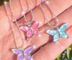 aesthetic, pink, and butterfly image