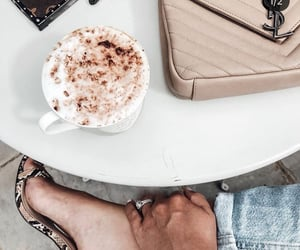 cappuccino, coffee, and fashion image