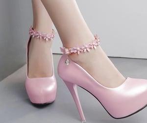 heels, wedding, and pink image