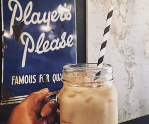 coffe, iced coffee, and quotes image