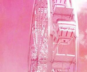 pink, ferris wheel, and wallpaper image