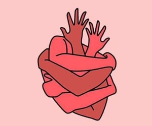 heart, pink, and red image
