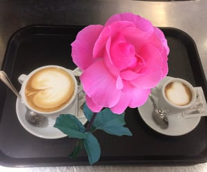 coffee, flickr, and flowers image