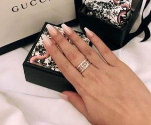 nails, gucci, and ring image