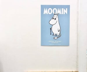 blue, aesthetic, and moomin image