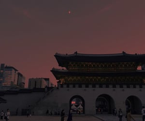 aesthetic, asian, and moon image