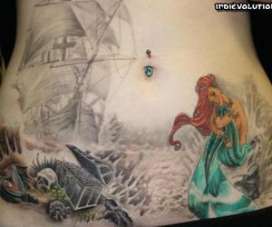 mermaid and tattoo image