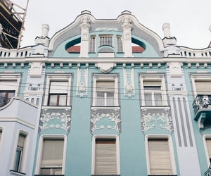 architecture, blue, and facade image