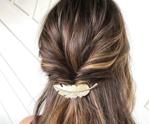 barrettes, beauty, and brown image