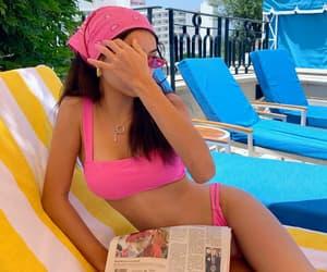 bikini, model, and female image