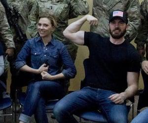 chris evans, Scarlett Johansson, and actor image