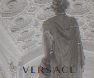 brand, Versace, and old image