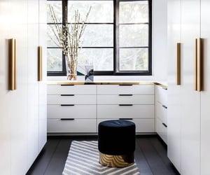 white, decor, and wardrobe image