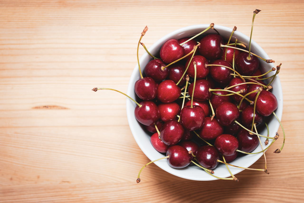 cherry, wood, and food image