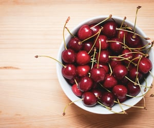 cherry, food, and wood image