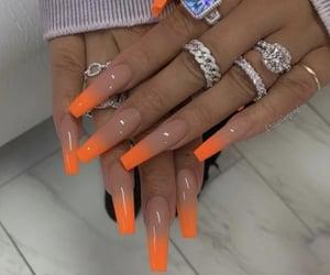 acrylic, orange, and acrylics image