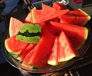 watermelon, food, and green image