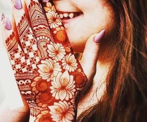 fashion, mehndi, and girl image