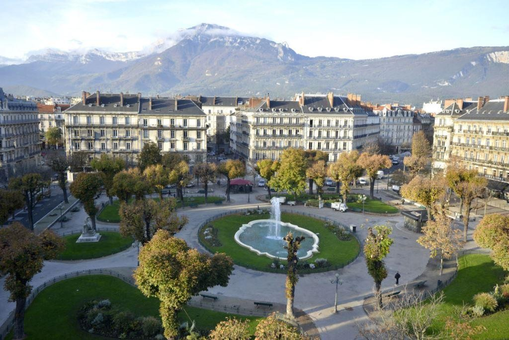 downtown, france, and grenoble image