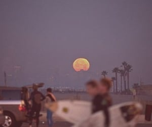moon, surf, and beach image