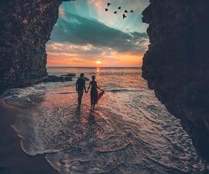 couple, sea, and sky image