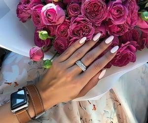 apple, diamond, and flowers image