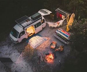 camping, forests, and hippy image