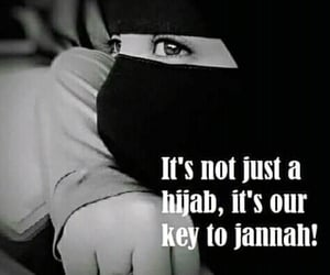 beauty, muslim women, and jannah image