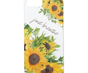 quotes, sunflowers, and iphone cases image