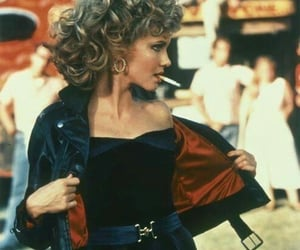 grease, Sandy, and vintage image