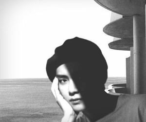 black and white, taehyung, and bts image