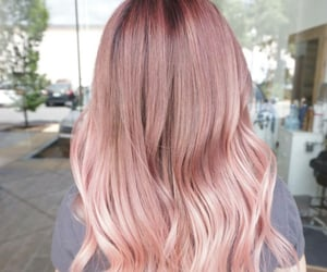 color hair, hairstyle, and wavy image