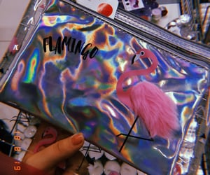 colorful, nails, and flamingo image