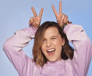 millie bobby brown, stranger things, and florence by mills image