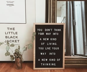 interior, letter board, and quote image