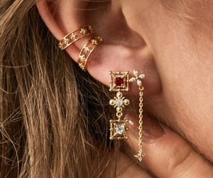gold, chic, and earrings image
