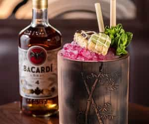 cocktail, drinks, and bacardi image
