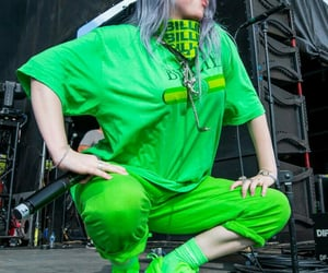 edgy, green, and outfit image