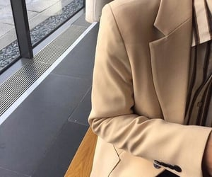 beige, coat, and caramel image