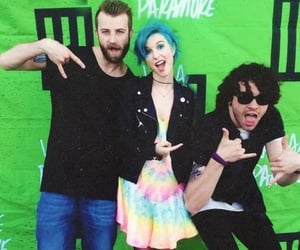 black, paramore, and green image