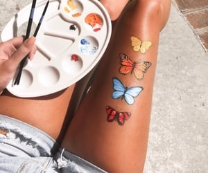 aesthetic, butterfly, and colors image