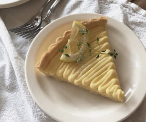 delicious, lemon tart, and pastries image