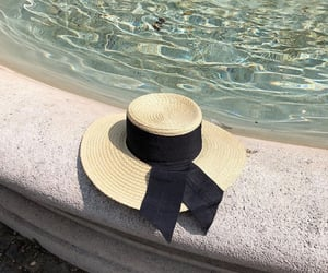 accessories, fountain, and hat image