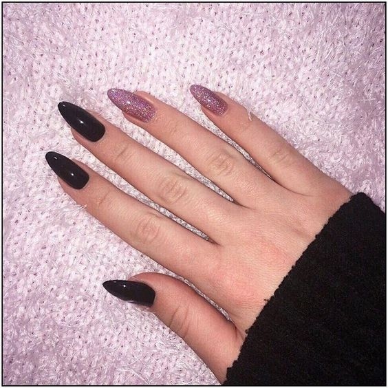 35 Amazing Black Nail Designs With Glitter Silver Check Them Out Page 79 Armaweb07 Com